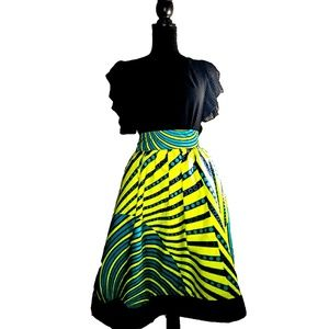 Multicolored trendy skirts with African fabric